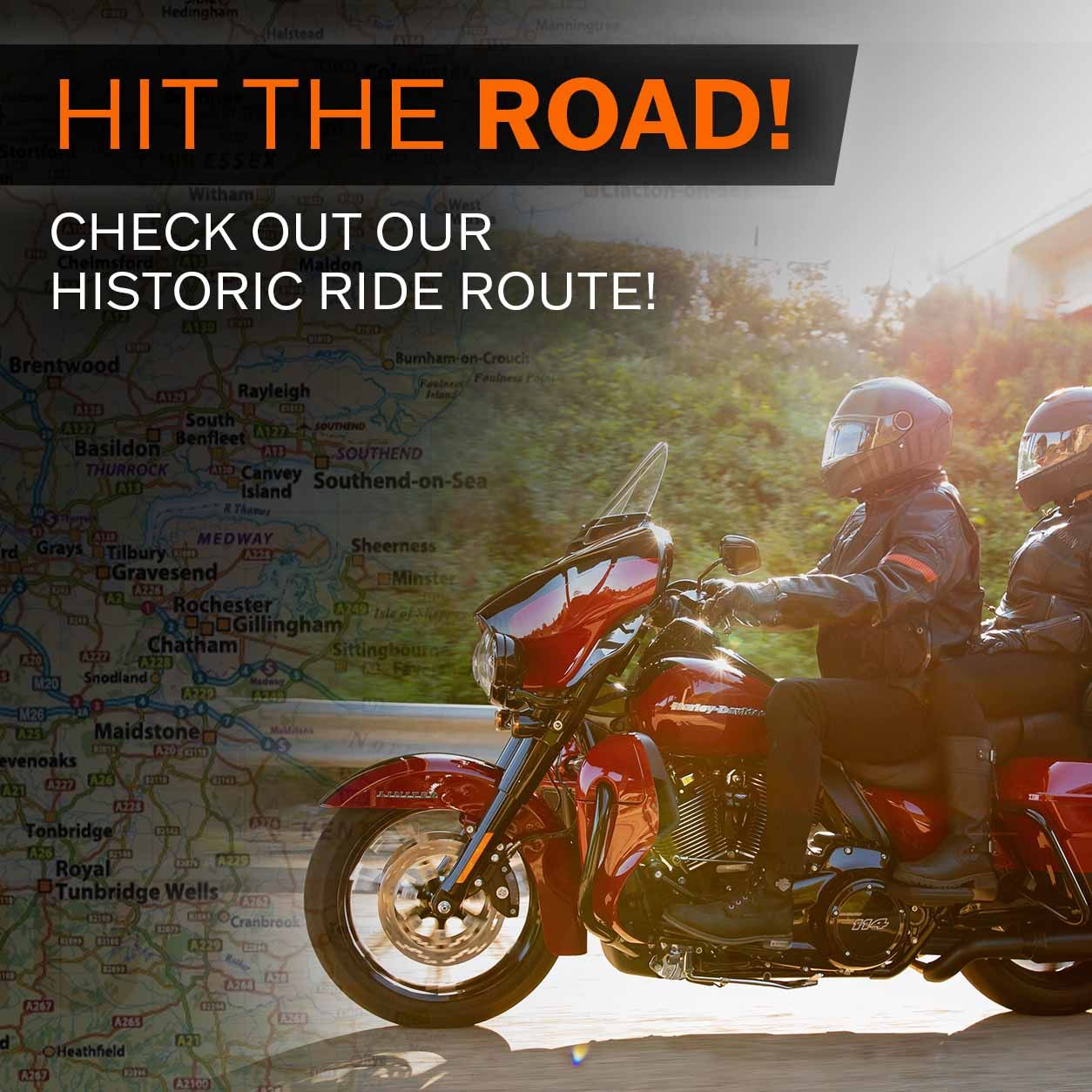 Maidstone Harley-Davidson Ride Route Recommendation